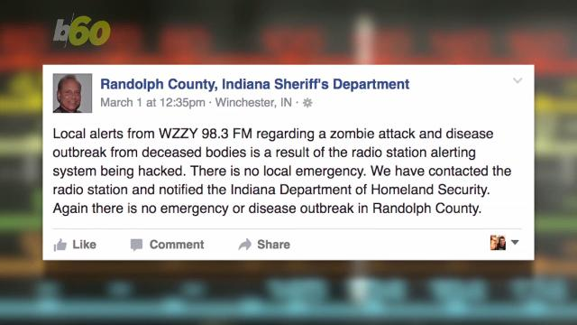 Hacked radio station issues emergency alert about a zombie uprising