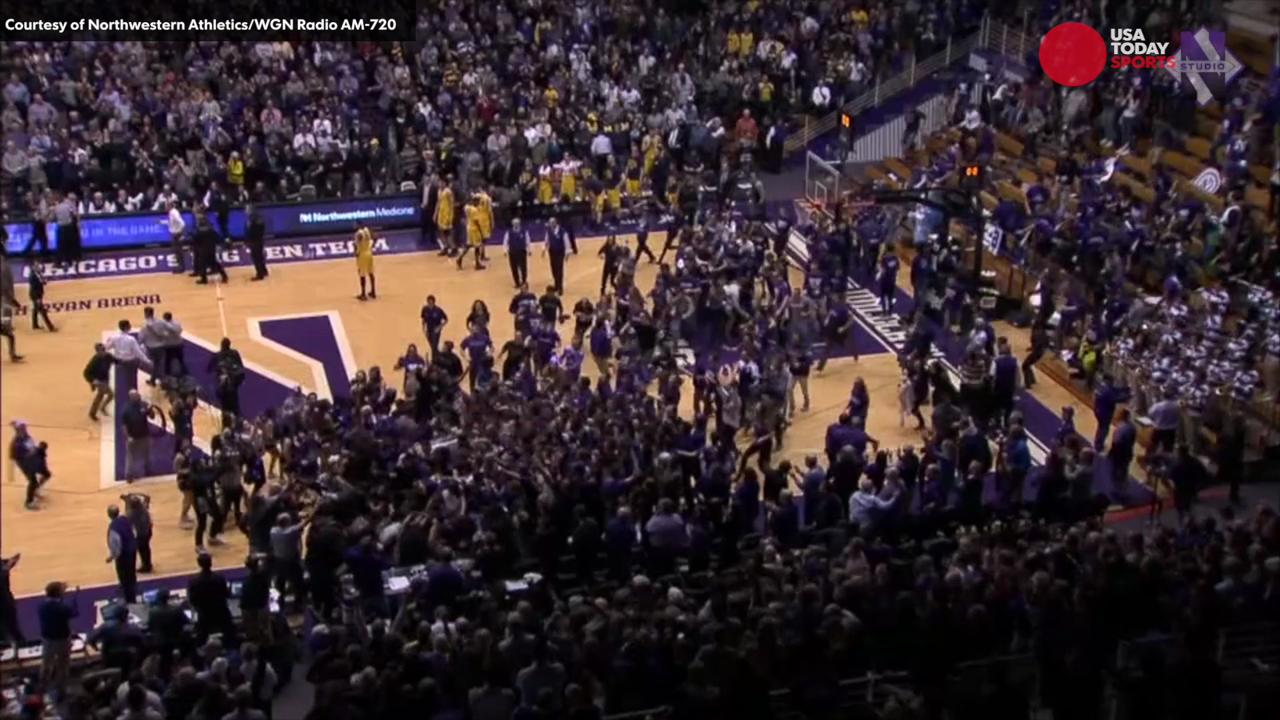 Watch Northwestern's buzzer-beater over Michigan