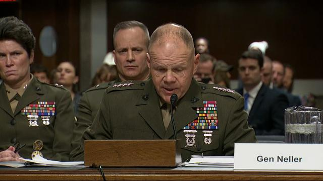 Top Marine briefs Senators on nude photo scandal