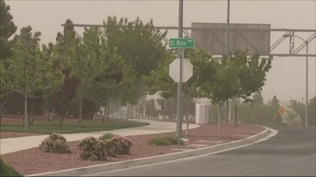 Raw: Fierce winds tear through Las Vegas