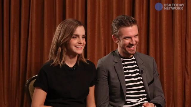 'Beauty and the Beast' stars Emma Watson and Dan Stevens sit down with USA TODAY to dish on all things from dancing on stilts to their favorite comfort flicks.