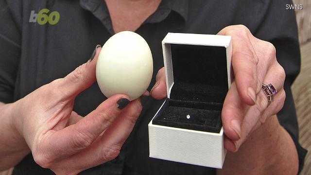 Woman finds diamond in her boiled egg