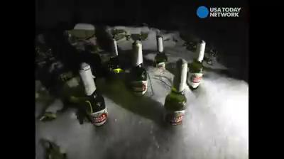Nor'easter Stella devours a six pack in 15 seconds