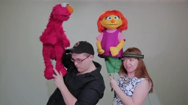 Julia is a character with autism on HBO's Sesame Street.