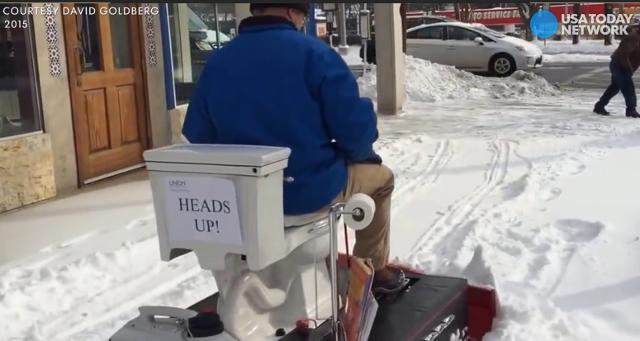 Image result for maryland man makes a toilet snowplow