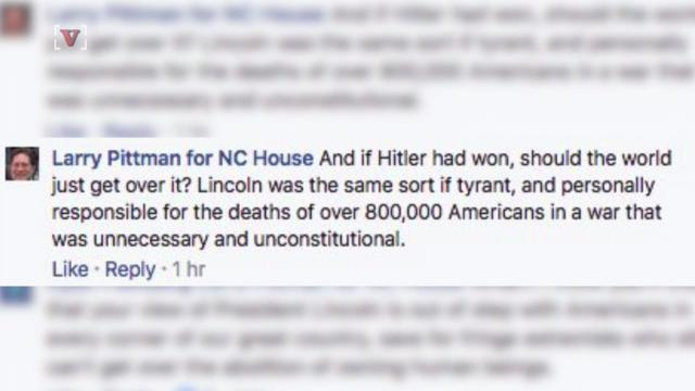 NC legislator compares Lincoln to Hitler