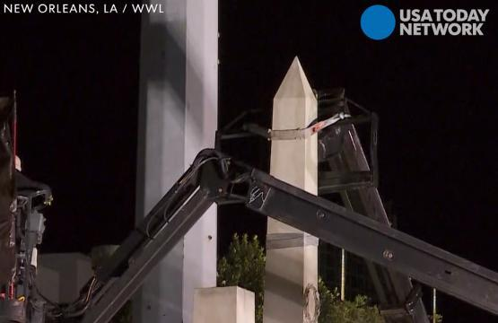 Confederate statues removed in New Orleans