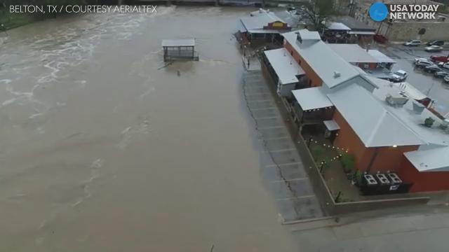 Drone shows massive Texas flooding