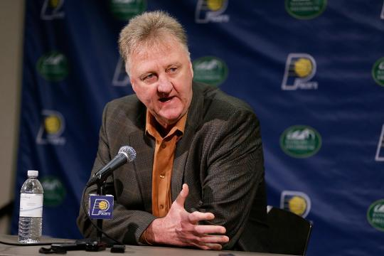 Larry Bird to step down as Pacers president