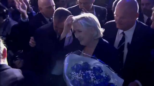 Raw: Le Pen and Macron Advance to French Runoff