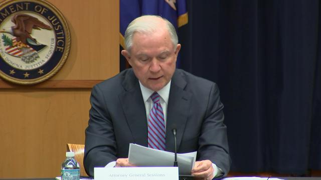 Sessions Vows To Crack Down on Gang Violence