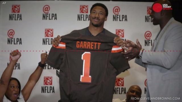 Myles Garrett relives moment he became first pick in NFL draft