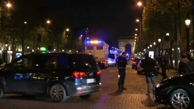 Raw: Police Officer Killed in Paris Attack