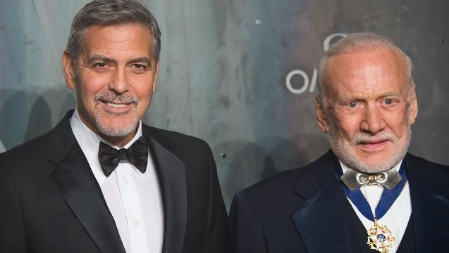 George Clooney meets Buzz Aldrin