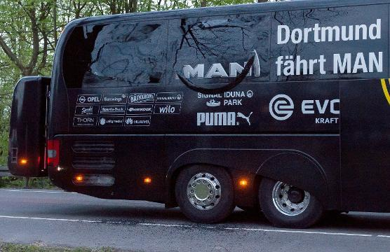 Borussia Dortmund player injured after explosions near team bus