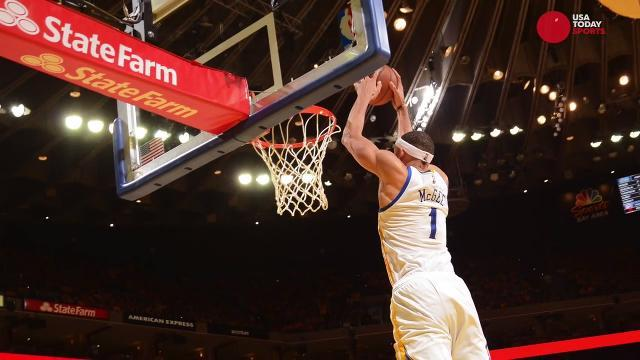 JaVale McGee steals the show for Warriors in Game 2
