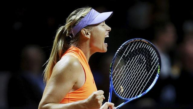 Maria Sharapova wins first match since doping ban