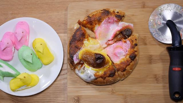 We made a pizza topped with Peeps so you don't have to