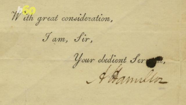 Rare Letters from Alexander Hamilton Selling For Up To $30,000 Each