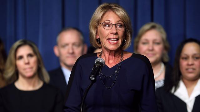Betsy DeVos Just compared school choice to picking A phone plan