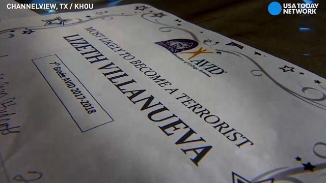 7th grader mocked as 'most likely to become terrorist'