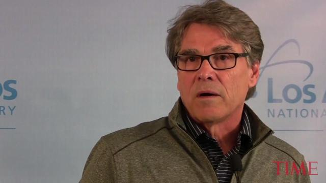 Secretary of Energy Rick Perry speaks about the Hanford Tunnel