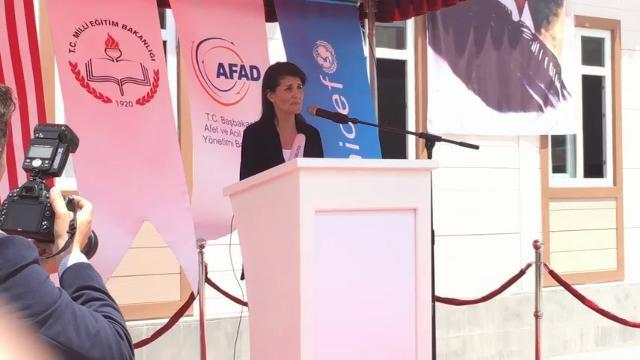 Haley Opens School for Syrian Refugees in Turkey