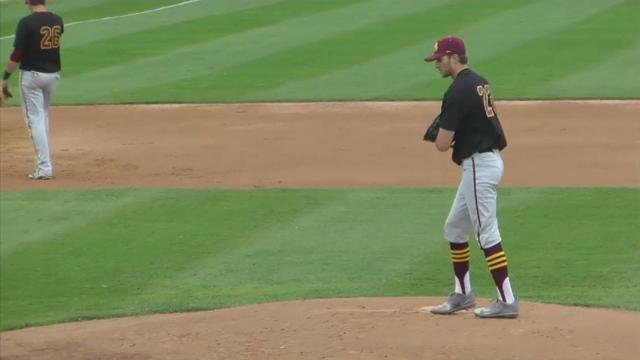 College Pitcher Relies on One Hand to Excel
