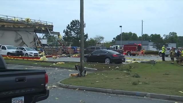 Possible Tornado Damage in South Georgia