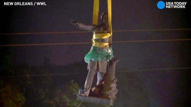Jefferson Davis statue pulled out of New Orleans park
