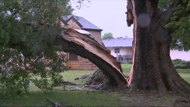 Raw: Spring Storms Hit Several Plains States