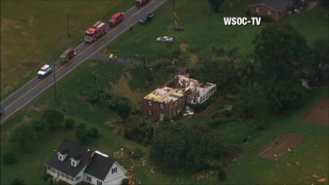 Raw: Possible Tornadoes Hit North Carolina
