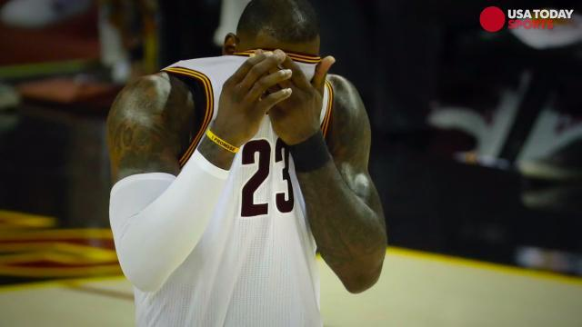 Watch: LeBron James gets testy with reporter after loss