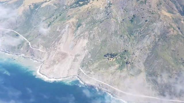 Landslide buries parts of Big Sur scenic highway