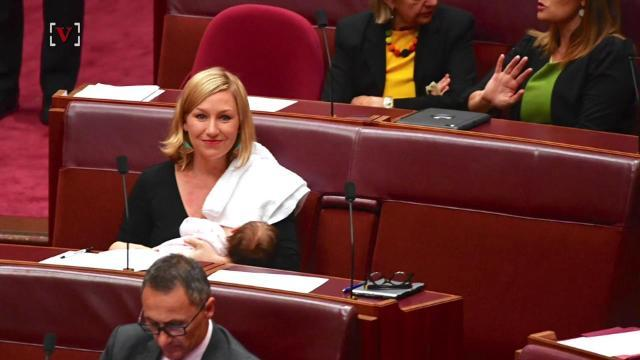 Australian politician becomes first women to breastfeed in Parliament
