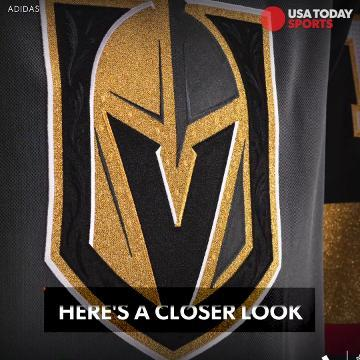 Here's a closer look at the Vegas Golden Knights' uniforms