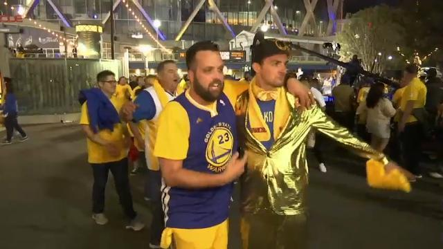NBA champ Warriors fans: That was crazy tonight!