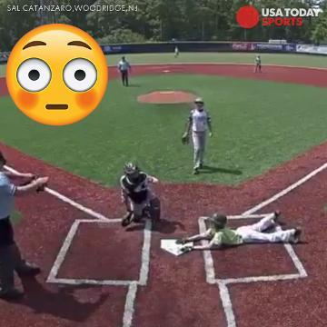 Watch: Little Leaguer goes airborne for run