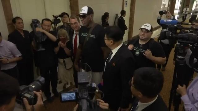 Raw: Dennis Rodman Arrives in North Korea