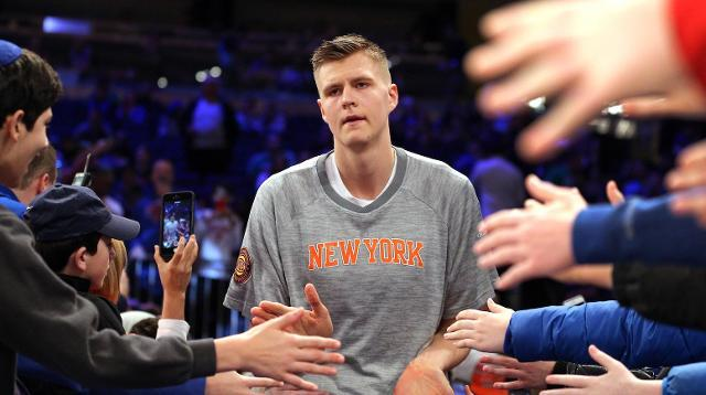 Knicks fans freaking out about possibility of trading Kristaps Porzingis
