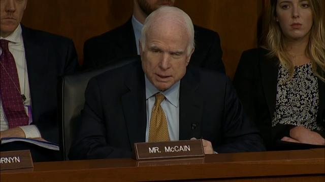 McCain Says He Was 'Tired' During Comey Hearing