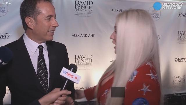 Jerry Seinfeld painfully rejects Kesha's hug