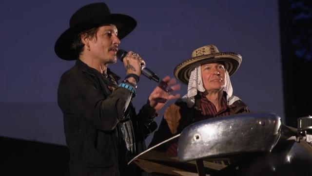 Depp asks about assassinating the president