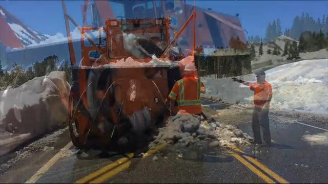 Crews Plowing Away Snow For Yosemite Access