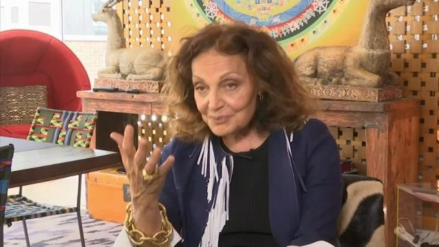 Diane Von Furstenberg makes the Statue of Liberty her new muse