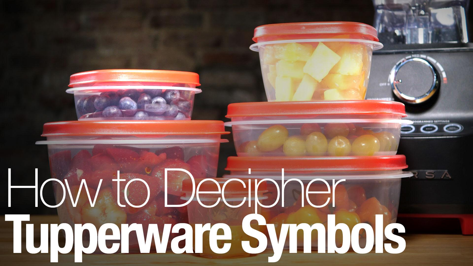 What The Symbols On Your Tupperware Really Mean Reviewed