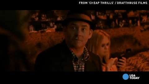 """David Koechner shows his darker side in 'Cheap Thrills.' Also out on demand are 'The Hunger Games: Catching Fire,"""" and 'The Boys of Abu Gharaib,' a story of a soldier during the Iraq war."""