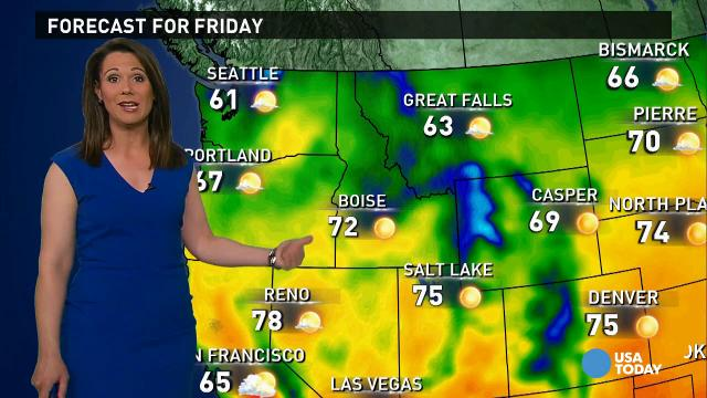 Friday's forecast: Dry and sunny for most of the U S
