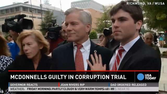 Ex-Virginia governor found guilty of public corruption