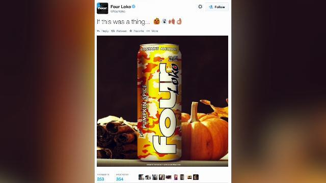 Pumpkin Spice Four Loko Flavor Is A Hoax